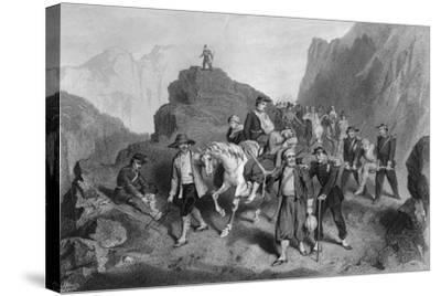 Removal of Wounded Soldiers from the Field of Battle, Crimean War-G Greatbach-Stretched Canvas Print