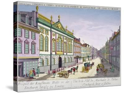 The New Ironmongers Hall in Fenchurch Street, City of London, 1750-George Godofroid Winkler-Stretched Canvas Print