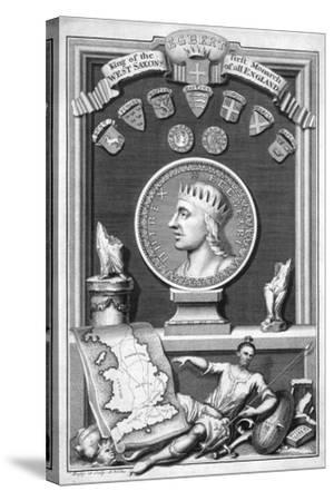 Egbert the Saxon, First King of All England-George Vertue-Stretched Canvas Print