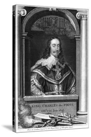 Charles I of England-George Vertue-Stretched Canvas Print