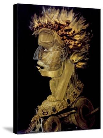 Fire, 1566-Giuseppe Arcimboldi-Stretched Canvas Print
