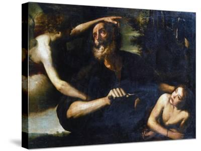 The Sacrifice of Isaac, Early 17th Century-Giuseppe Vermiglio-Stretched Canvas Print
