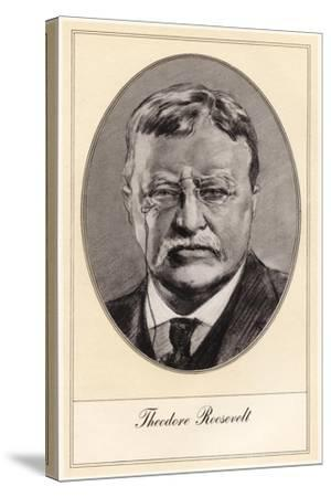 Theodore Roosevelt, 26th President of the United States-Gordon Ross-Stretched Canvas Print