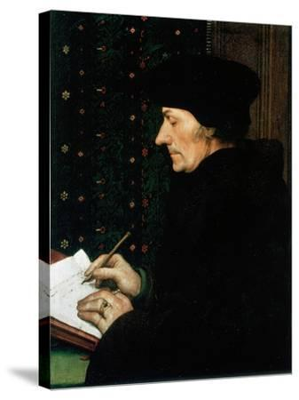 Desiderus Erasmus, Dutch Humanist and Scholar, 1523-Hans Holbein the Younger-Stretched Canvas Print