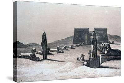 Temple of Asseboua, Nubia, Egypt, 19th Century-Hector Horeau-Stretched Canvas Print
