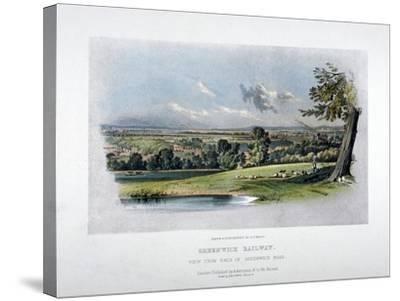 View of the London and Greenwich Railway from the Back of Greenwich Road, 1836-GF Bragg-Stretched Canvas Print