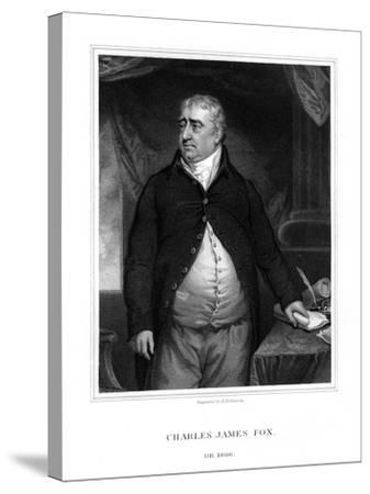 Charles James Fox, British Politician-H Robinson-Stretched Canvas Print