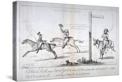 Westminster Races..., 1784-Isaac Cruikshank-Stretched Canvas Print