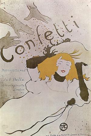 Confetti, 1893-Henri de Toulouse-Lautrec-Stretched Canvas Print