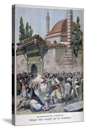 An Attack on a Mosque by Armenians, 1895-Henri Meyer-Stretched Canvas Print