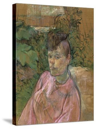 Woman in the Garden of Monsieur Forest, 1889-1891-Henri de Toulouse-Lautrec-Stretched Canvas Print