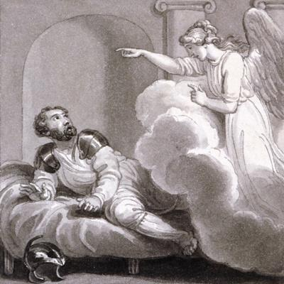 Angel Appearing to Cornelius, C1810-C1844-Henry Corbould-Stretched Canvas Print
