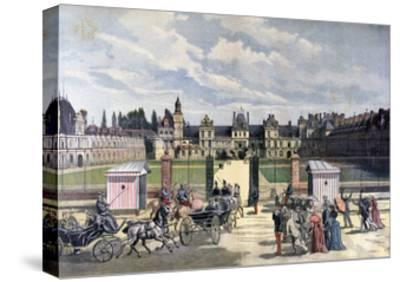 Arrival of the President of the Republique, Château De Fontainebleau, 1892-Henri Meyer-Stretched Canvas Print