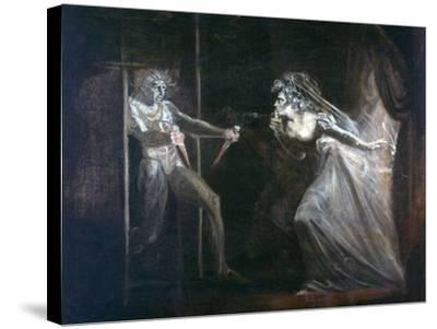 Lady Macbeth Seizing the Daggers, Exhibited 1812-Henry Fuseli-Stretched Canvas Print