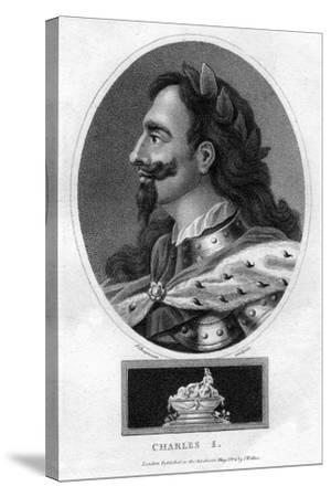 Charles I of England-J Chapman-Stretched Canvas Print