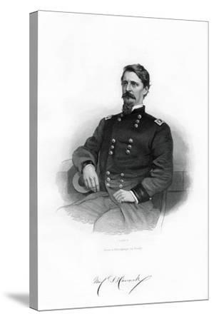 Winfield Scott Hancock , Union General, 1862-1867-J Rogers-Stretched Canvas Print