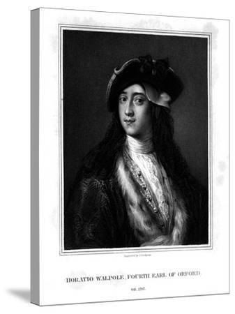 Horace Walpole, 4th Earl of Orford, Politician, Writer, Architectural Innovator-J Cochran-Stretched Canvas Print