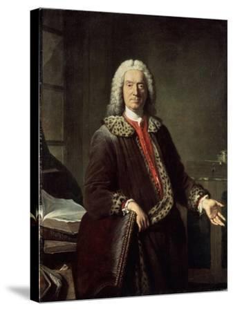 Portrait of the Poet and Tragedian Prosper Jolyot De Crébillon, 1746-Jacques-Andre-Joseph Aved-Stretched Canvas Print