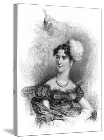 Princess Augusta, Duchess of Cambridge, 1818-J Alais-Stretched Canvas Print