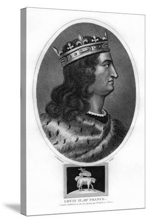 Louis IX, King of France-J Chapman-Stretched Canvas Print