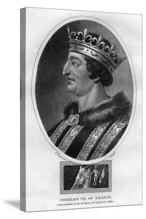 Charles VII, King of France-J Chapman-Stretched Canvas Print