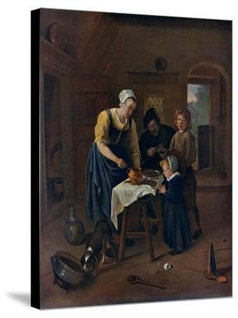 A Peasant Family at Meal-Time ('Grace before Meat), C1665-Jan Steen-Stretched Canvas Print