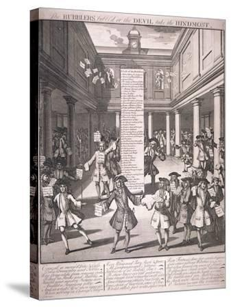 Stock Exchange, London, 1720-James Cole-Stretched Canvas Print