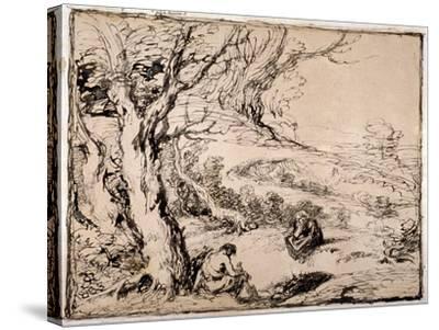 Timon and Apemantus, 1883-John Gilbert-Stretched Canvas Print
