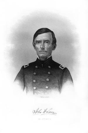 Colonel John W Lowe, American Soldier-John A O'Neill-Stretched Canvas Print