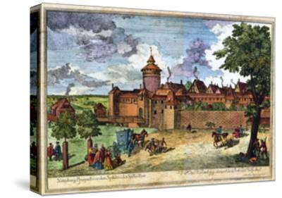 Hospital Gate, Nuremberg, Germany, 17th or 18th Century-John Adam-Stretched Canvas Print