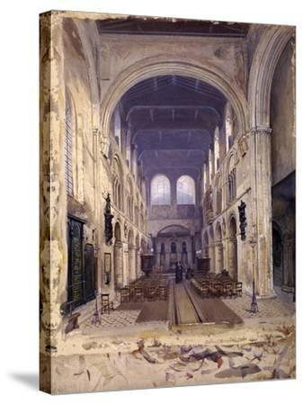 Interior of St Bartholomew's Priory, London, 1880-John Crowther-Stretched Canvas Print