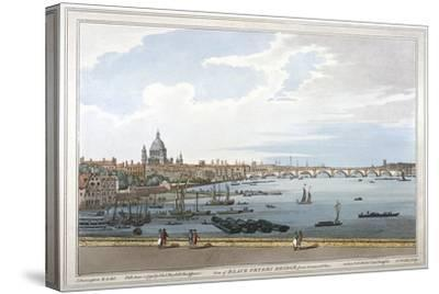 Blackfriars Bridge, London, 1795-Joseph Constantine Stadler-Stretched Canvas Print