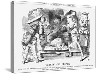 Turkey and Grease, 1869-John Tenniel-Stretched Canvas Print