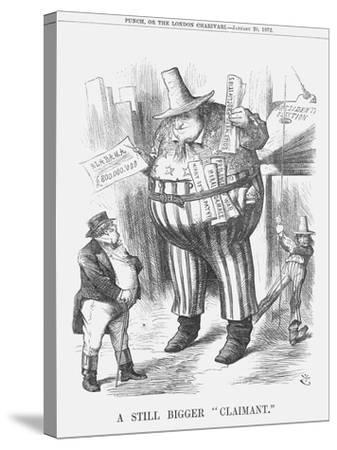 A Still Bigger Claimant, 1872-Joseph Swain-Stretched Canvas Print