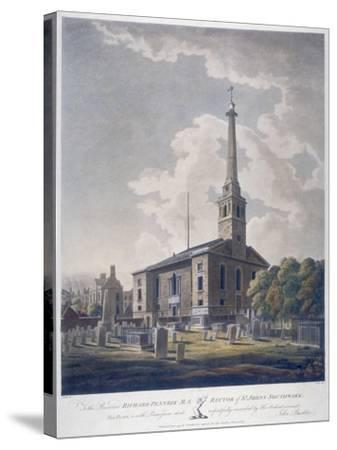 View of the Church of St John Horsleydown, Bermondsey, London, 1799-John William Edy-Stretched Canvas Print