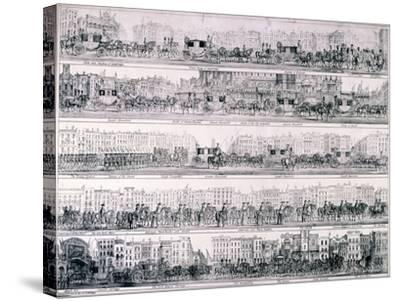 Queen Victoria's Progress Through London, 1837-Joseph Robins-Stretched Canvas Print