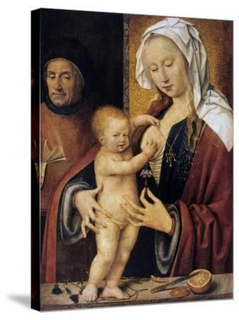The Holy Family,' 16th Century-Joos Van Cleve-Stretched Canvas Print