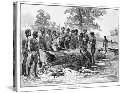 Batman Treating with the Blacks, 1835-Julian Ashton-Stretched Canvas Print