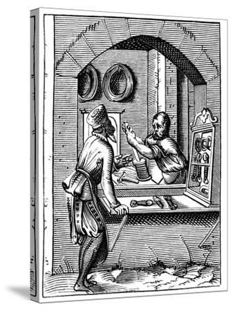 Wire Worker, 16th Century-Jost Amman-Stretched Canvas Print