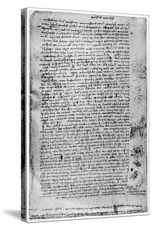 Description of the Great Flood, Late 15th Century or Early 16th Century-Leonardo da Vinci-Stretched Canvas Print
