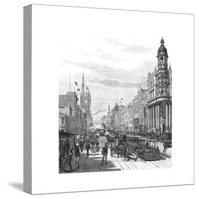 Collins Street Looking East, Melbourne, Victoria, Australia, 1886-JR Ashton-Stretched Canvas Print