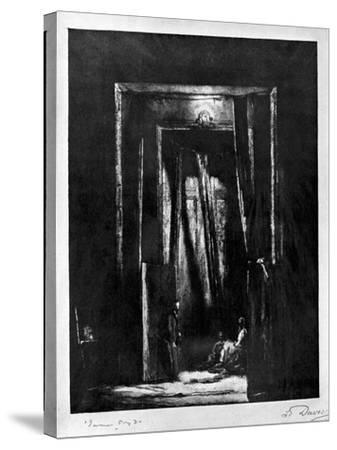 The Sinister Interior, 1930-L Daviel-Stretched Canvas Print