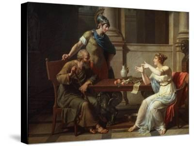 Socrates and Alcibiades at Aspasia, 1801-Nicolas Andre Monsiau-Stretched Canvas Print