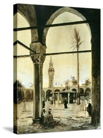 Mosque, Cairo, Egypt, 1928-Louis Cabanes-Stretched Canvas Print