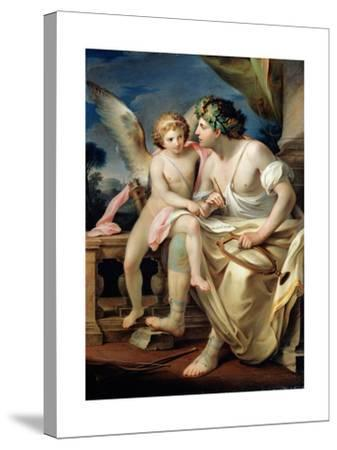 Poet's Inspiration, 1785-Mariano Rossi-Stretched Canvas Print