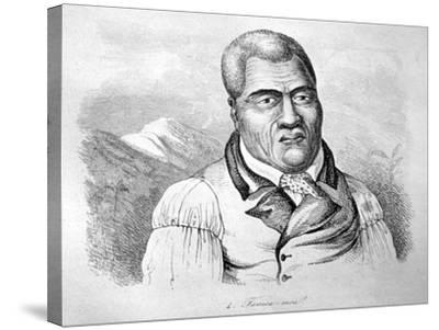 Kamehameha I, C1770-1819-Ludwig Choris-Stretched Canvas Print