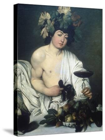 Bacchus, C1597-Caravaggio-Stretched Canvas Print