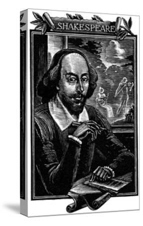 William Shakespeare, English Playwright and Poet-Mihajl Ivanovic Pikov-Stretched Canvas Print