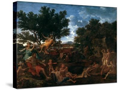 Apollo, Lover of Daphne, C1664-Nicolas Poussin-Stretched Canvas Print