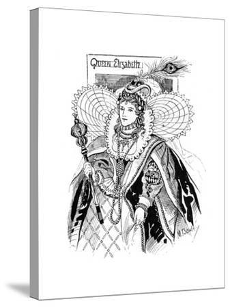 Queen Elizabeth I (1533-160), 1897-M Bowley-Stretched Canvas Print